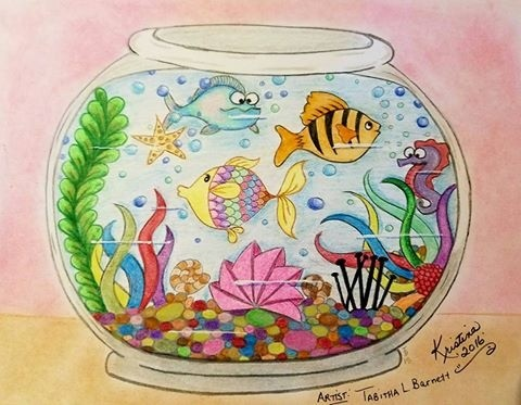 Tangled Fishbowl Coloring Page for All ages  (JPG)