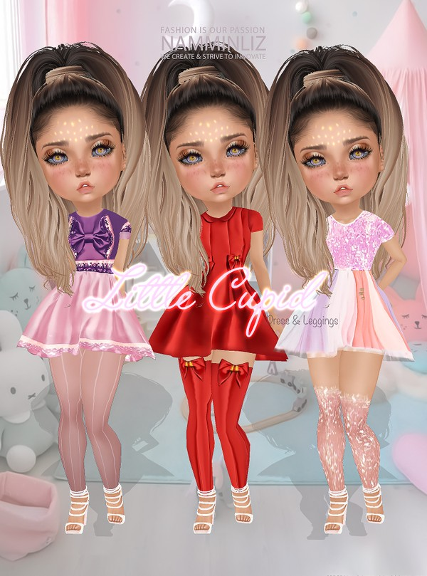 Little Cupid Full Set Dresses & Leggings Textures JPG CHKN