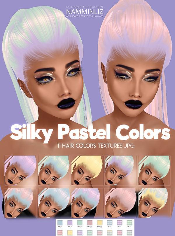 Silky Pastel Hair Colors 11 Textures JPG & BB