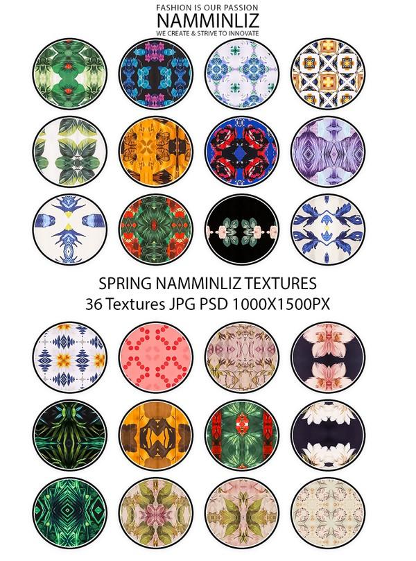 Spring 36 Textures V2 JPG 1000x1500px