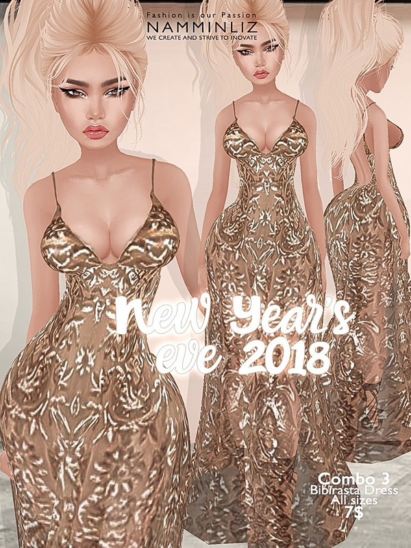New Year's eve combo3 Bibirasta dress all sizes imvu JPG texture NAMMINLIZ