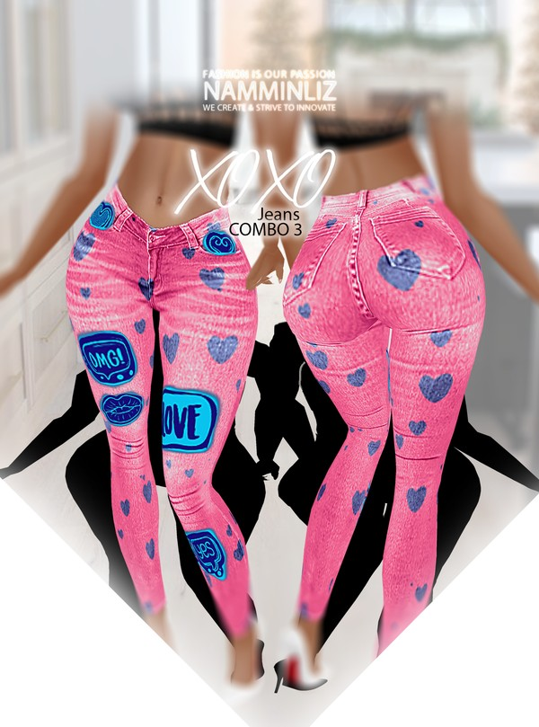 XOXO Jean Combo3 RLL Textures PNG CHKN ^   .   ^