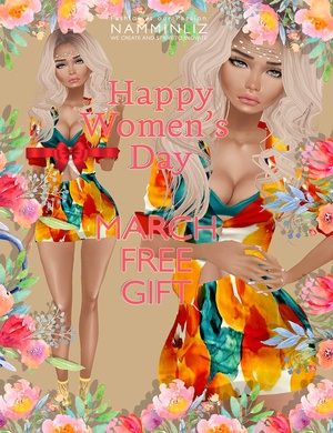 March imvu free gift Happy Women's Day  ^  -  ^