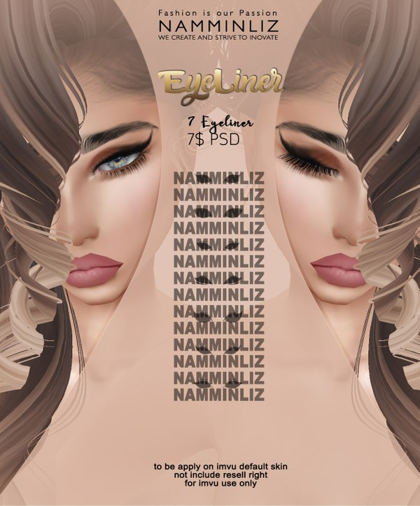 7 Eyeliner default imvu skins