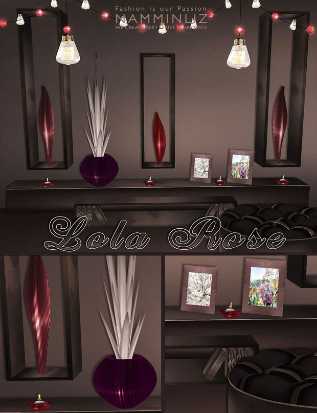 Lola Rose Limited Home Decor imvu 28 Textures PNG Limited to 5 person only