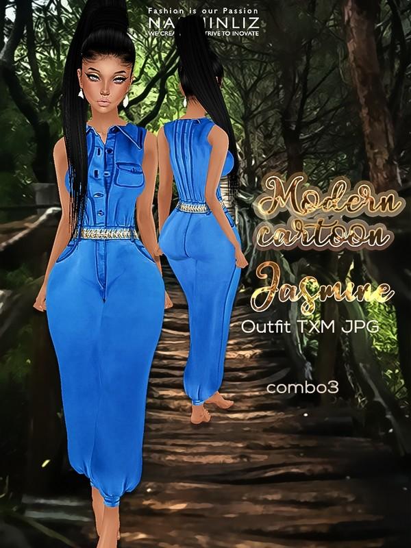 Modern Cartoon combo3 Jasmine Outfit JPG textures TXM