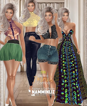C O M B O Not so Formal Collection 4 Outfits Bibirasta all sizes