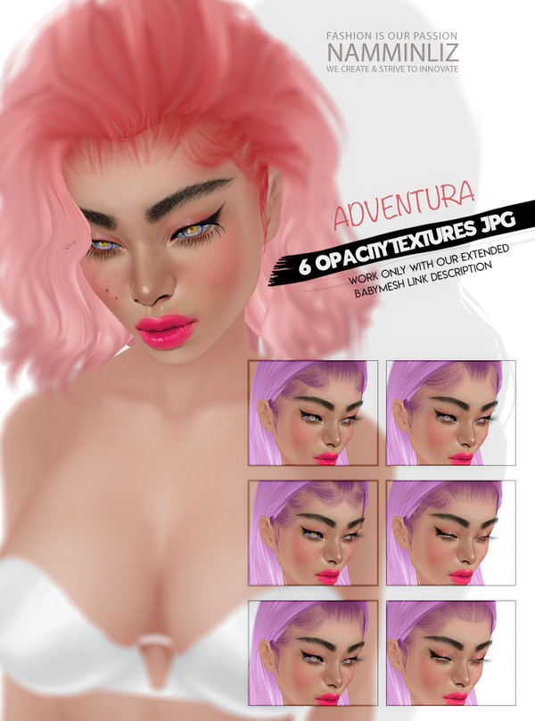 ADVENTURA 6 New Baby hair Opacity Texture JPG (Work only with our EXTENDED Baby Mesh link below