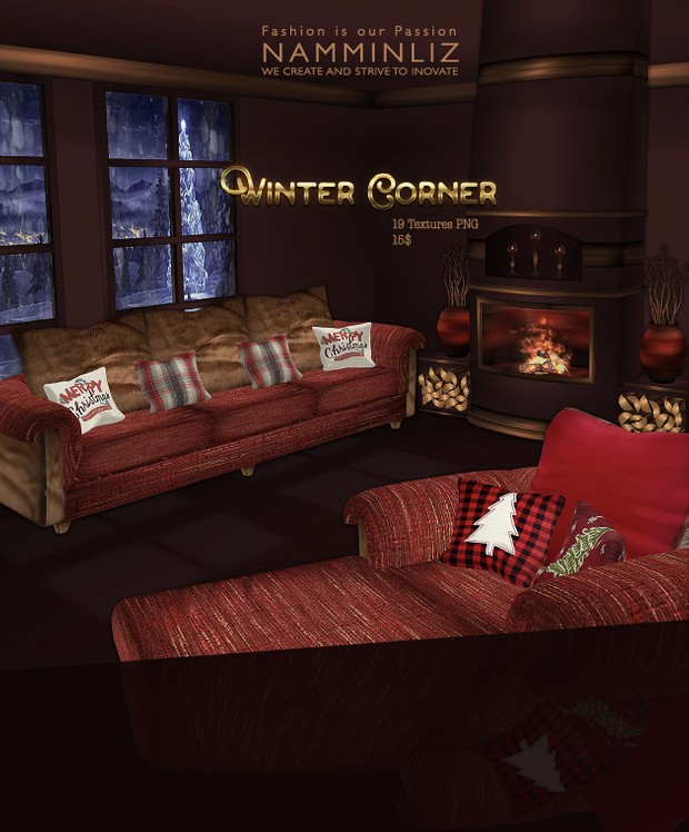 Winter Corner 19 Textures PNG imvu home decor