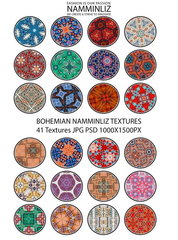 BOHEMIAN 41 Textures V2 JPG 1000x1500px