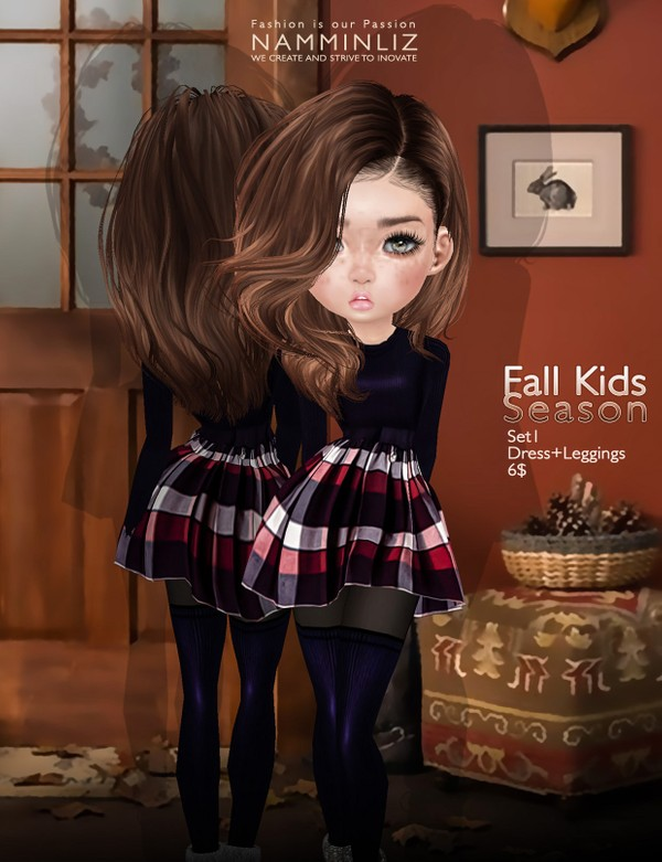 Fall Kids Season SET1 imvu texture JPG ( Bibirasta dress )