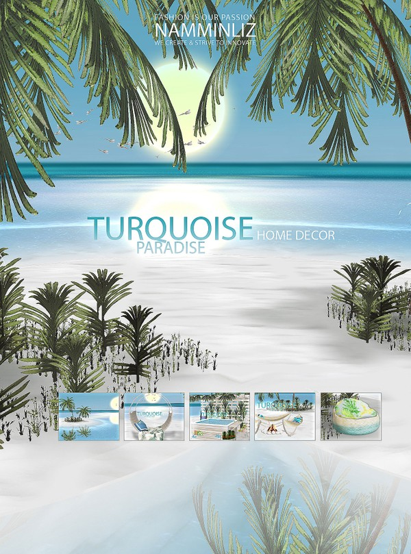 TURQUOISE PARADISE Home Decor 22 JPG Textures 5 CHKN