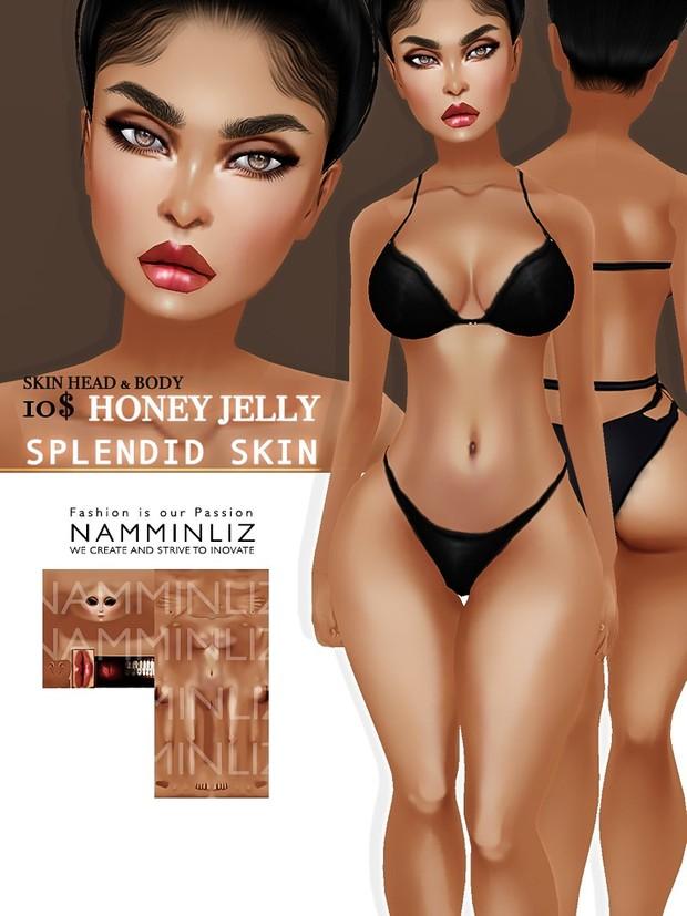 Splendid Skin 6 imvu Texture JPG (Sugar , Mocha , Crunchy , Honey , Berry  Coco )