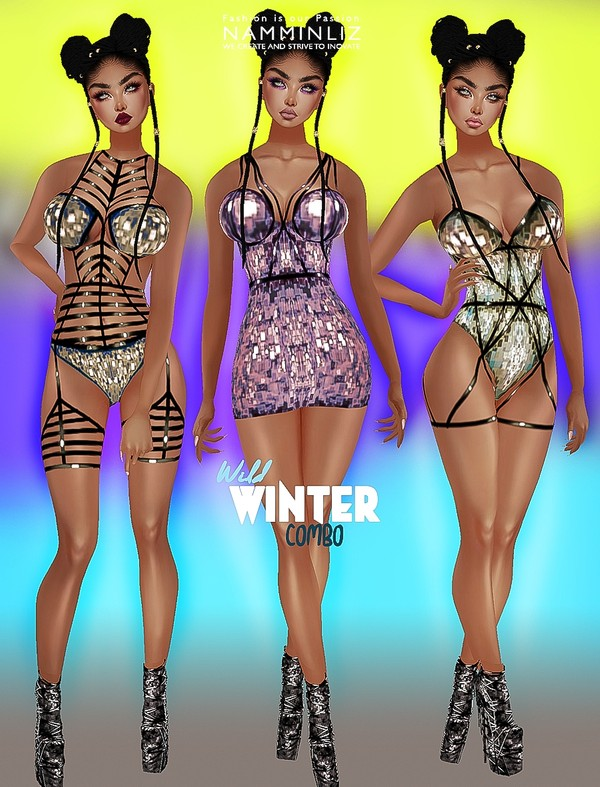 Wild Winter Full Combo (3 Outfits + 1 Shoes All sizes Top Bibirasta PNG Textures)