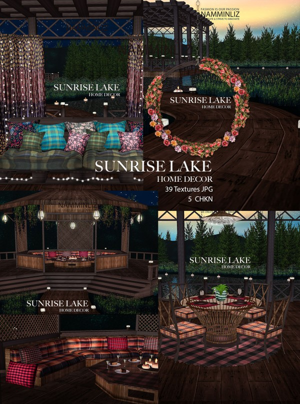 Sunrise Lake Home decor 39 Textures JPG 5 CHKN (imvu mesh link)