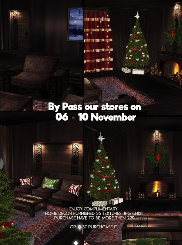 By Pass our stores on 06 - 10 November to get a complimentary Home decor furnished Texture JPG CHKN