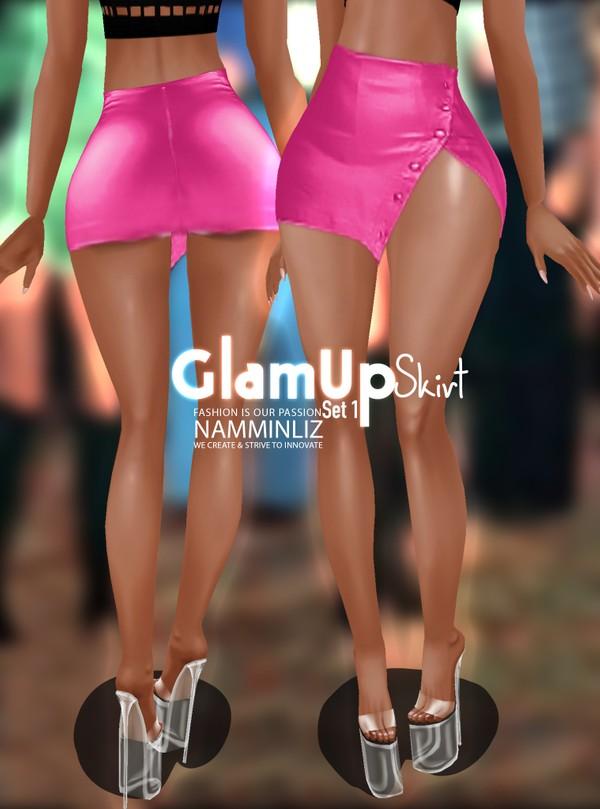 Glam Up Skirt Set 1 Textures Skirt PNG CHKN RLL