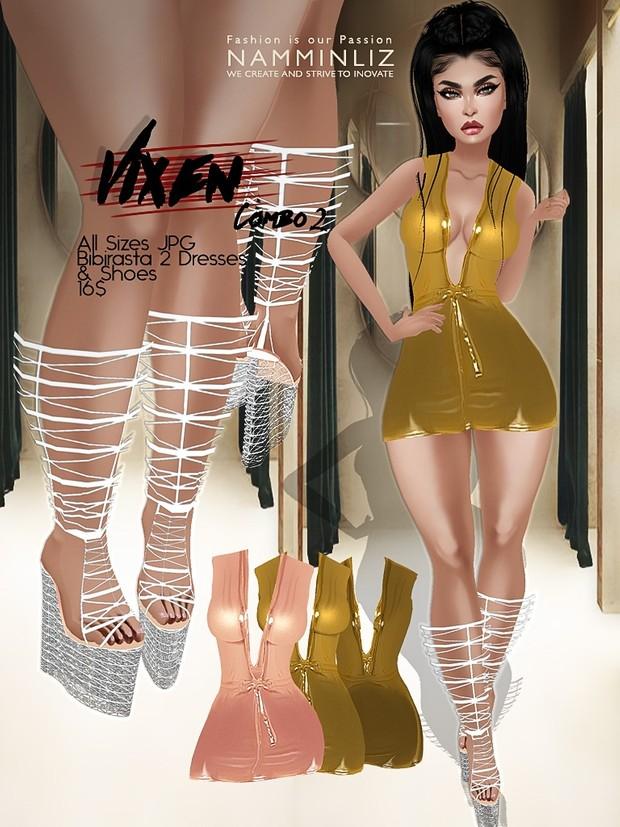 Vixen Full combo All Sizes JPG Texture Bibirasta 4 Dress + 3 Shoes