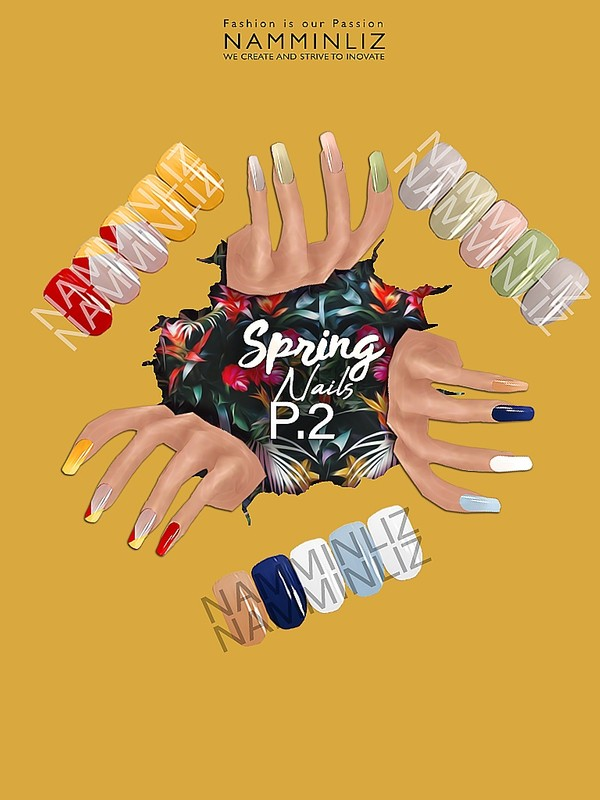 Spring Nails P.2 3 PNG Textures NAMMINLIZ