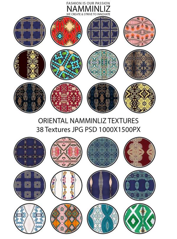 ORIENTAL 38 Textures V1 JPG 1000x1500px