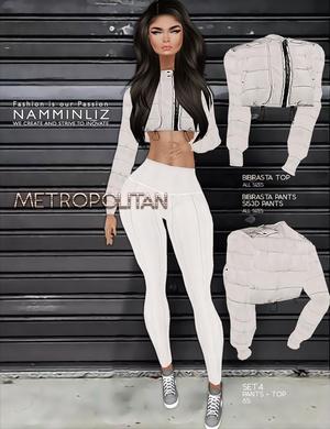 Metropolitan SET4 imvu textures bibirasta Top & Pants Sis3d