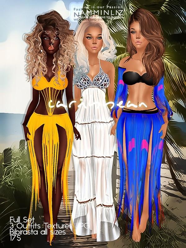 Caribbean Full SET Textures JPG bibirasta all sizes