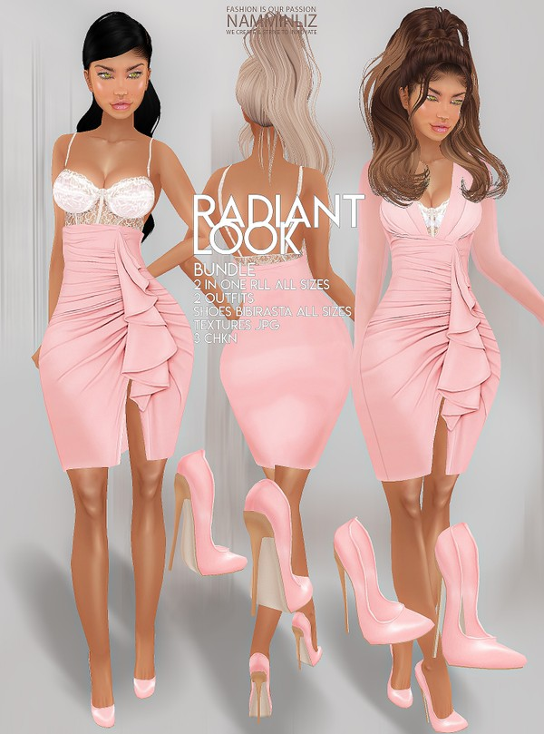 Radiant Look Bundle 2IN1 RLL 2 Outfits & Shoes bibirasta all sizes Textures JPG 3 CHKN
