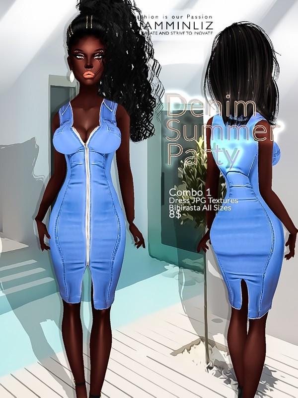 Denim Summer party combo1 ( Dress Textures JPG bibirasta all sizes)