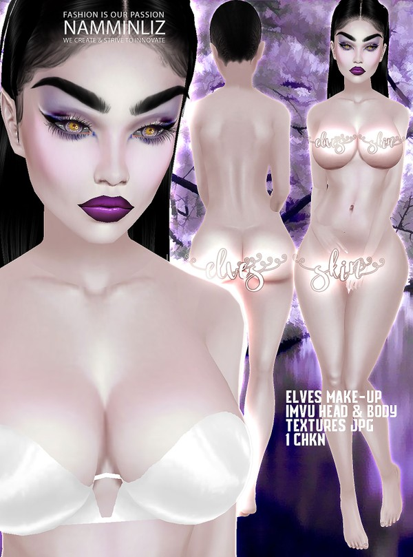 Fantasy Elves Skin Imvu Textures JPG Head + Body CHKN