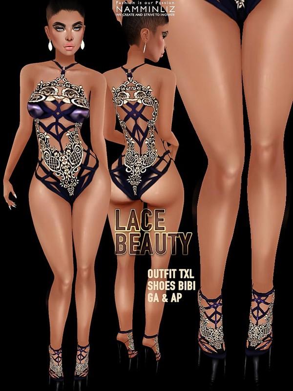 Lace Beauty JPG Textures (TXL Outfit, Bibi Shoes) CHKN comes in GA & AP Bundle