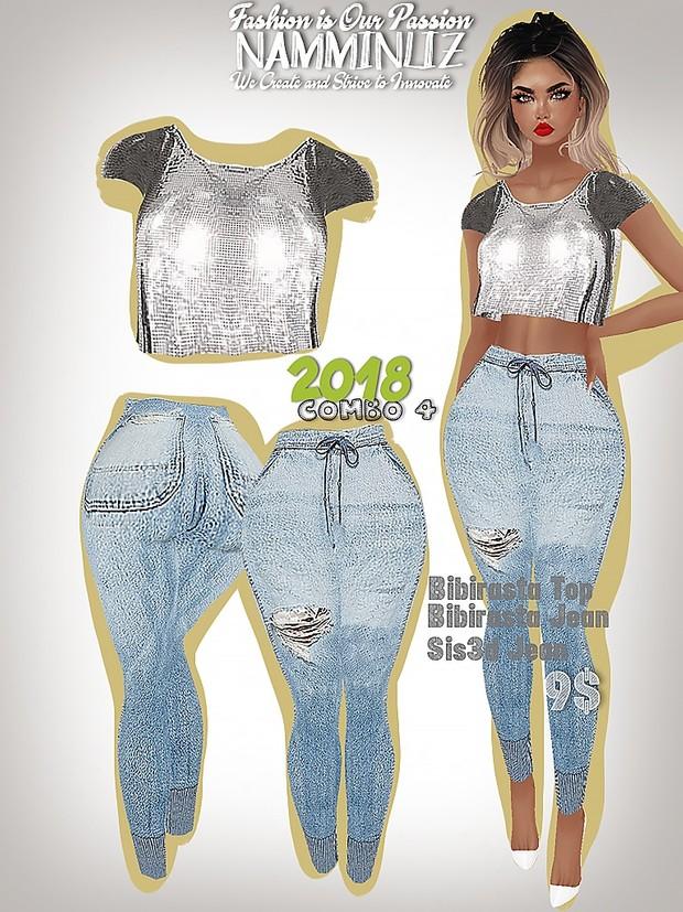 2018 COMBO4 Bibirasta top + Jean Sis3d/Bibirasta All sizes
