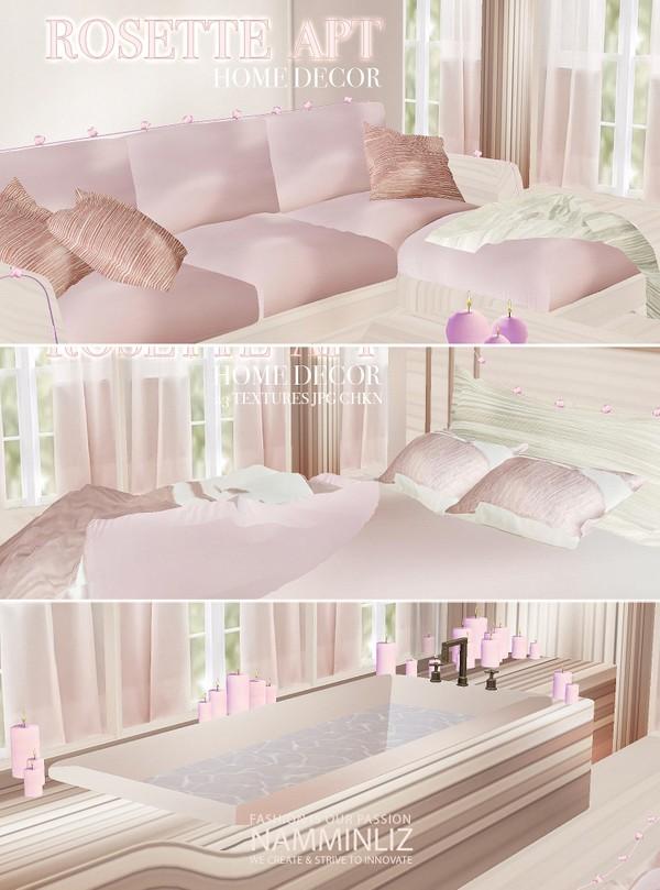 ROSETTE APT Home decor 23 Textures JPG CHKN furnished imvu link mesh