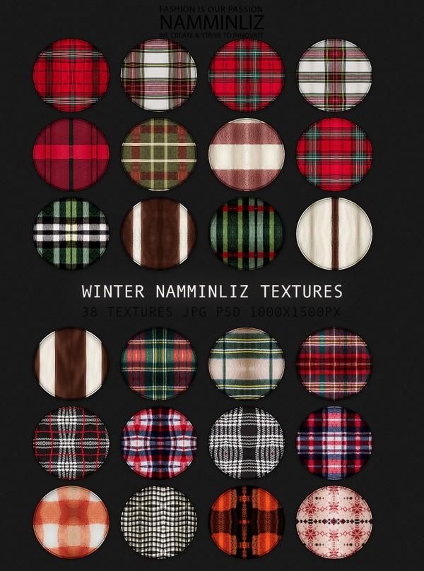 Winter 38 Textures JPG PSD 1000x1500px