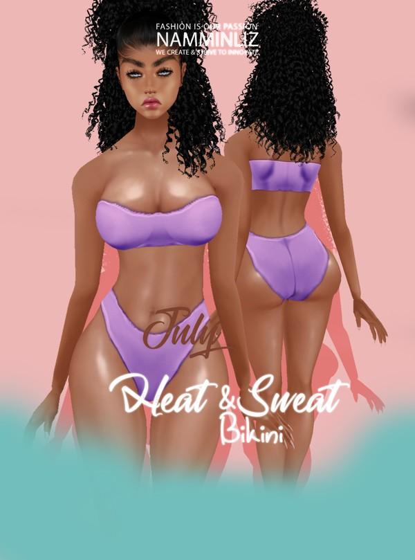 Heat & Sweat July Bikini Texture PNG ^ . ^