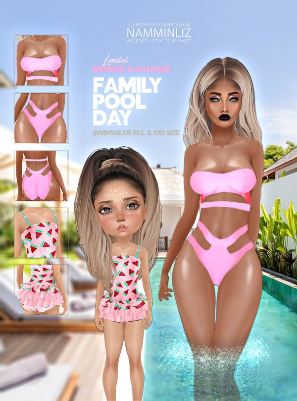 Family pool day Bundle 1 Textures JPG 2 CHKN Mother & Daughter Swim Limited to 3 clients only
