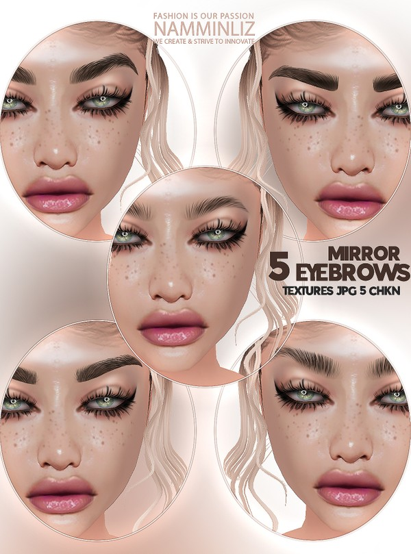 5 Eyebrows Mirror Textures JPG 5 CHKN