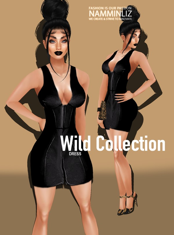 Wild Collectipn Dress CHKN Texture PNG