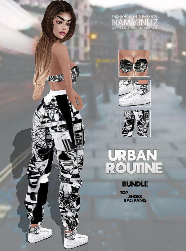 URBAN ROUTINE Bundle V2 (Top + Shoes + Bag Pants) Textures JPG 3CHKN