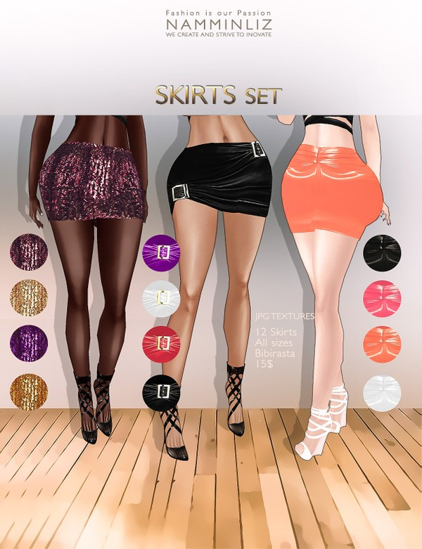Skirts Set ( 12 colors imvu textures Bibirasta )