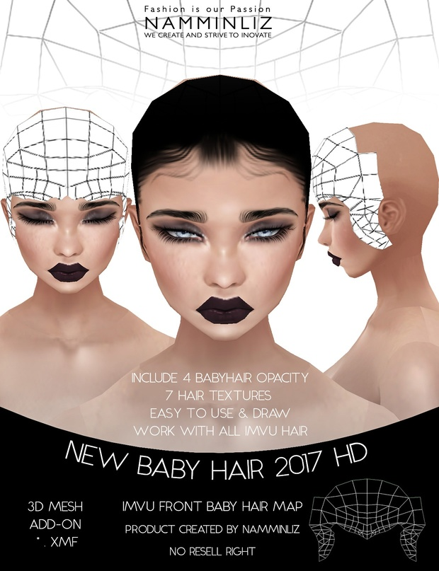 New Baby Hair 2017 Hd Front Female 4 Baby Hair Opaci