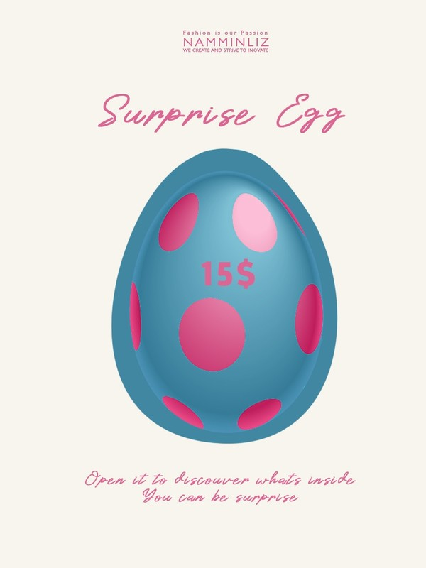 Secret Egg Surprise Products & Game 15$