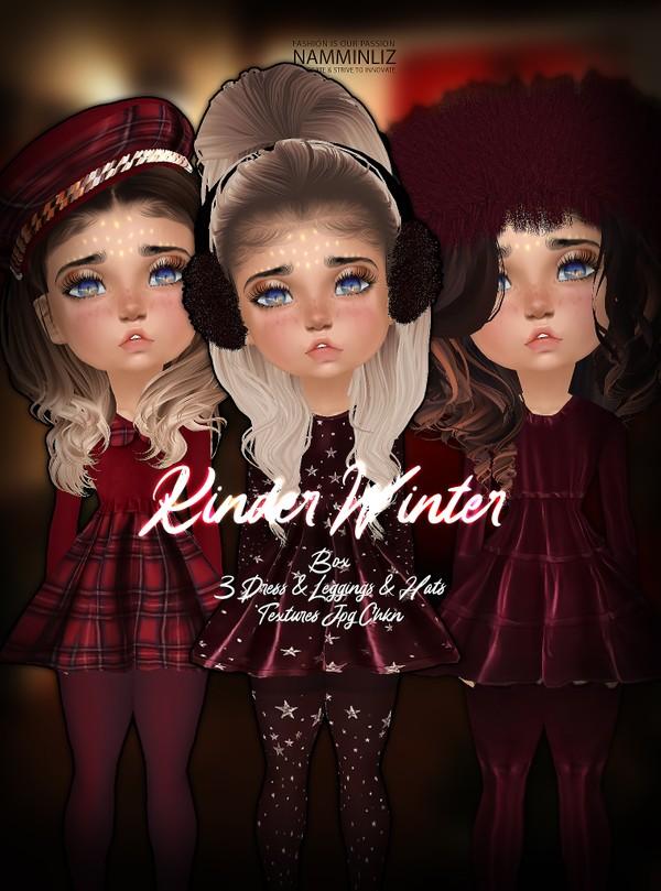 Kinder Winter Box 3 Dresses Textures,Leggings, Hats JPG CHKN