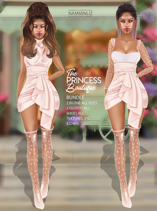 The Princess Boutique Bundle 2 in one All sizes 2 Outfits RLL Shoes RLL Textures JPG 3 CHKN