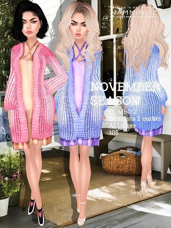 November Season combo 2 imvu texture 2 Outfits Bibirasta