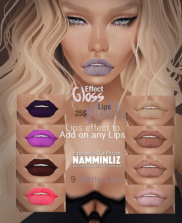 Desirous Kiss With the new E F F E C T Gloss And Matte Lips - 5 Gloss Effect + 9 Matte Lips