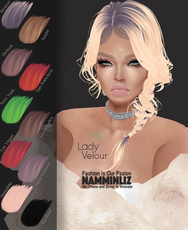 H A I R Lady Velour 10 Hair Textures