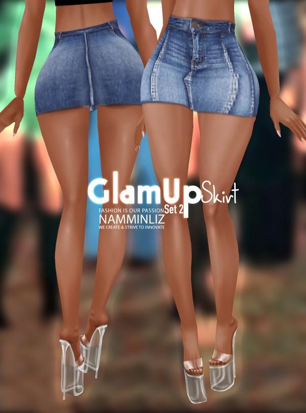 Glam Up Skirt Set 2 Textures Skirt PNG CHKN RLL