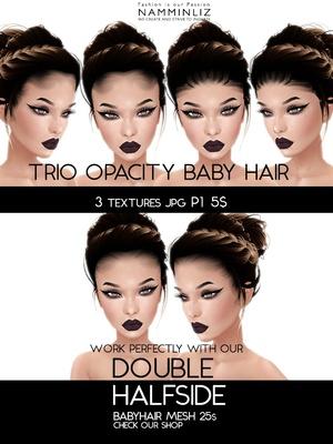Double Half Side 3 Baby Hair Opacity Textures JPG 2018 P1