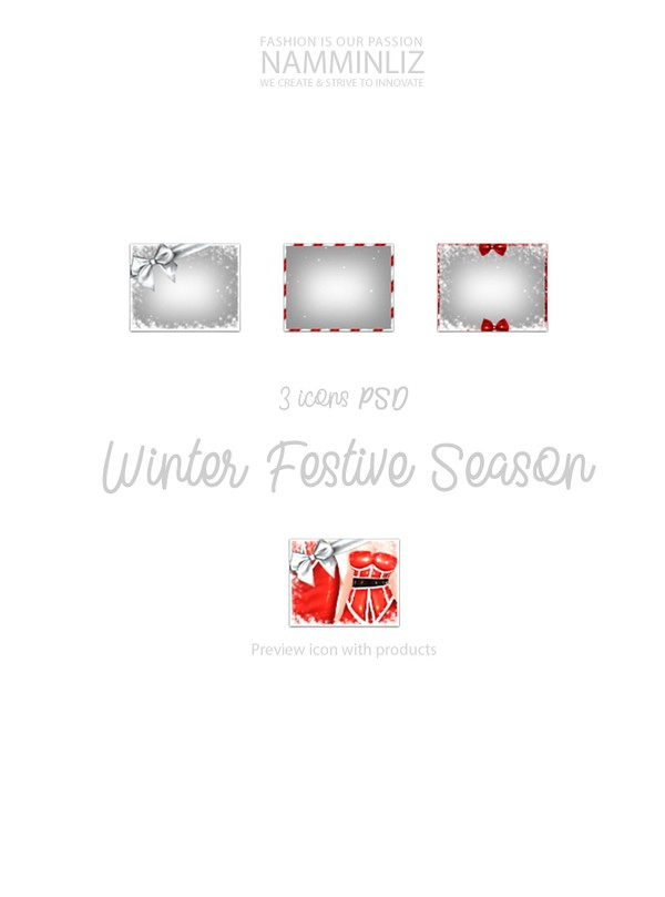 Winter Festive Season 3 Icons PSD 5 Textures PNG