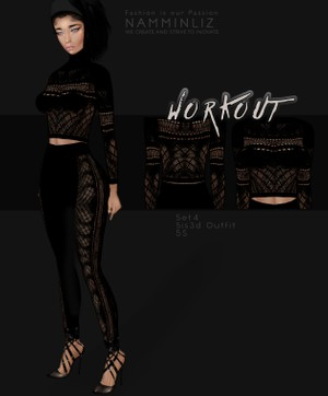 WorkOut Set4  Sis3d Outfit imvu